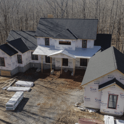 Drone Photo of Home Construction
