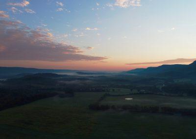 Drone Photo of Hazy Sunset